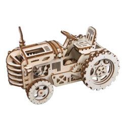 Puzzle mécanique en bois Tracteur assemblé