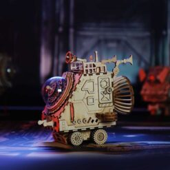 Puzzle mécanique en bois -véhicule martien