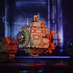 Puzzle sous-marin musical en bois 3D