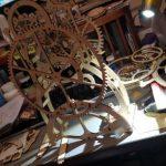 HORLOGE À PENDULE -PUZZLE MÉCANIQUE EN BOIS 3D