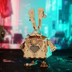 Lapin malin-puzzle musical en bois 3D
