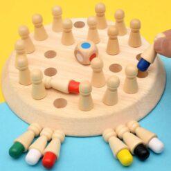 jeu de pions en bois éducatif