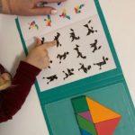 Tangram magnétique -Puzzle éducatif en bois