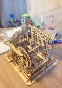 Descente express-Puzzle mécanique en bois 3d photo review