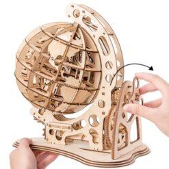 Puzzle 3D Globe Terrestre en bois