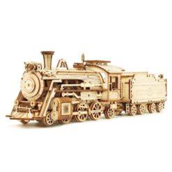 Puzzle Locomotive V-Express – 3D Mécanique en bois miniature-min