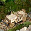 voiture jeep de l'armée puzzle 3D