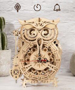 Horloge Hibou- Puzzle en bois 3D Mecapuzzle (3)