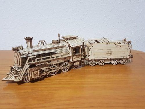 Puzzle Locomotive V-Express – 3D Mécanique en bois miniature photo review